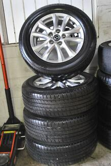"4 SET 16"" MAZDA 3 ALLOY WHEELS WITH TYRE + MINT CONDITION"