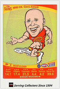2011 AFL Teamcoach Cards Magic Wild Card MW8 Gary Ablett (Gold Coast)
