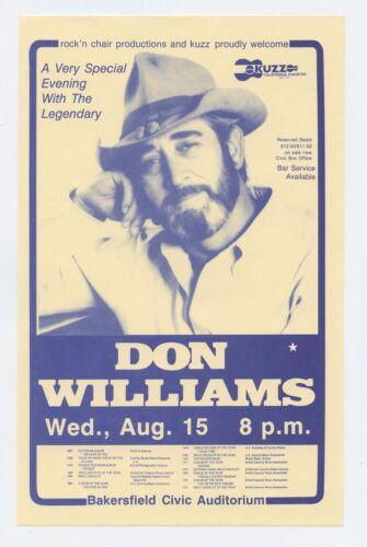 Don Williams Handbill 1984 August 15 Bakersfield Civic Auditorium