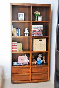Dark wood, cubed cabinet / shelving. Rose Bay Eastern Suburbs Preview