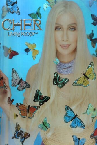 CHER 2002 LIVING PROOF OFFICIAL CONCERT TOUR HOLOGRAM PROMO POSTER / NEAR MINT