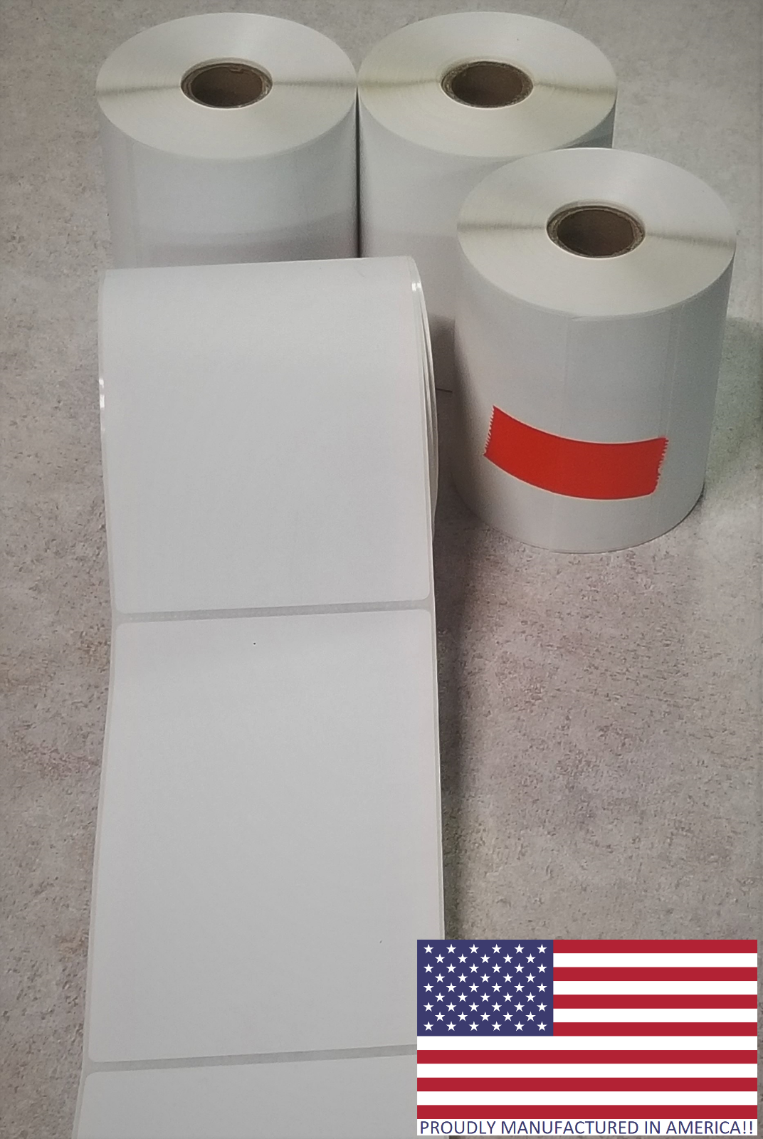 4 Rolls 4x6 Direct Thermal Shipping Labels - 250 per roll -