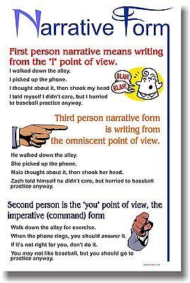 Narrative Form - Writing Language Arts Classroom POSTER