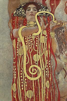 Hygieia Poster Gustav Klimt 61 x 91,5 cm Kunstdruck Plakat Wandbild Wanddeko