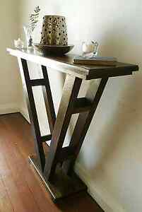 RUSTIC RECYCLED TASMANIAN OAK SLIM LINE HALL TABLE Joondanna Stirling Area Preview