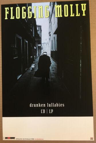 FLOGGING MOLLY Rare 2002 PROMO POSTER for Drunken Lullabies CD MINT USA 11 x 17