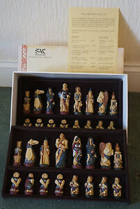 studio anne carlton - SAC -  warlords chess set - Painted - UK ONLY
