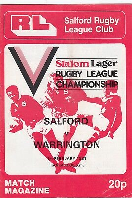 Salford v Warrington 1980/1 (1 Feb)