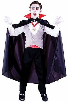 Classic Vampire Count Dracula Boys Child Costume, One Size