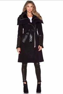 Black isabel MACKAGE fur coat / manteau MACKAGE fourrure VDCMSG