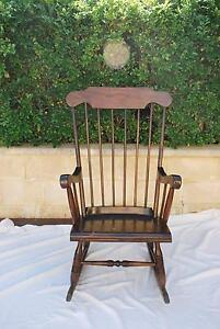 Vintage Australian Hardwood Rocking Chair Mount Claremont Nedlands Area Preview