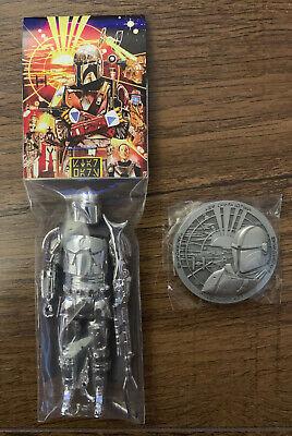Star Wars hasnotalent THE MANDALORIAN Beskar Chrome w/ Coin Vintage Style Figure