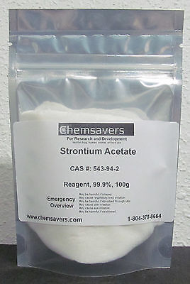 Strontium Acetate Reagent 99.9 Certified 100g