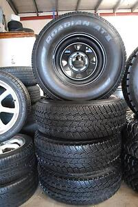 """4 SET 15"""" SUNRAYSIA RIMS WITH TYRES 31-10.50-R15 A/T 85% TREAD Virginia Brisbane North East Preview"""