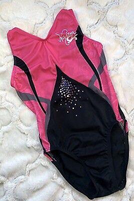 NASTIA LIUKIN Gymnastics Leotard GK Elite CELEBRATION Sequin SOLD OUT Sz: CM for sale  Shipping to Canada