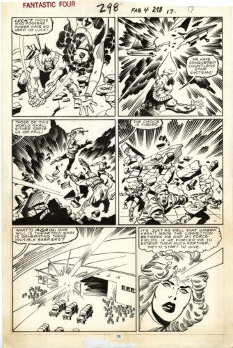 FANTASTIC FOUR #298 PAGE 13! John Buscema! Sal Buscema!