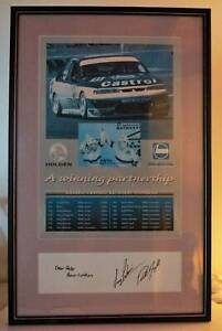 Larry Perkins & Russell Ingall Autographed Picture Frame