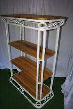 French White Wrought Iron Style Timber Hall Stand Display Shelves Brahma Lodge Salisbury Area Preview