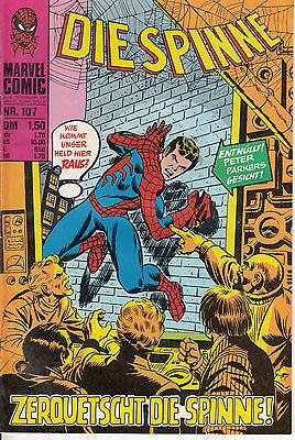 Die SPINNE Nr. 107 (1-2) schöner ZUSTAND WILLIAMS RECHT spider-man