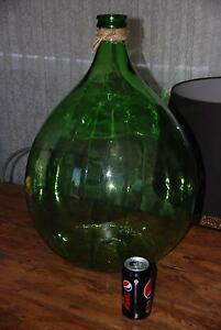 Large Vintage green glass wine bottle jug Pick up Panania Panania Bankstown Area Preview