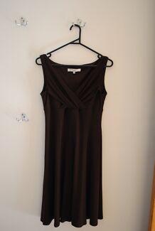 Chocolate Brown Knee Length Dress