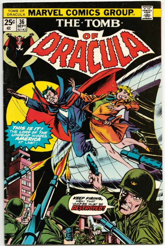 TOMB OF DRACULA #36 SEPT 1975 F/VF 7.0 MARVEL COMICS
