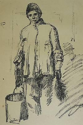 Jüdischer Wasserträger in Russland Judaika Hermann Struck *1871 Berlin Haifa
