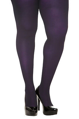 WINTER  PLUS  PURPLE EGGPLANT   SPANDEX TIGHTS 1X/2X OR 3X/4X  COLLANT COUTURE