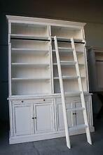 FRENCH PROVINCIAL LIBRARY BOOKCASE SHELF KITCHEN CABINET & LADDER Chipping Norton Liverpool Area Preview