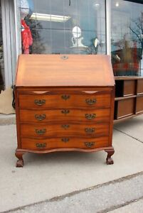 Antique -Claw Foot - serpentine - secretary desk/dresser $395