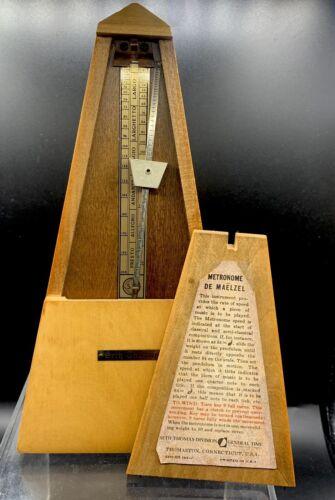 Vintage Wood METRONOME 10 DE MAELZEL SETH THOMAS 9 USA E873-007 - $64.99
