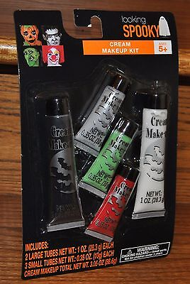 Halloween Cream Makeup Kit 5 piece 3.05 oz Make-Up Costume Party NEW