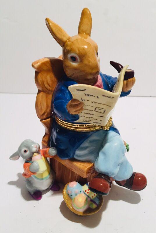 CWC PETER RABBIT Figurine/Box Porcelain
