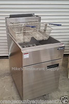 New 50 Lb Gas Fryer Stainless Steel Atosa Atfs-50 2553 Commercial Deep Nsf Fat