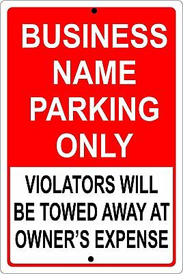 - PERSONALIZED BUSINESS PARKING SIGN ALUMINUM NO RUST CUSTOM METAL SIGN 8