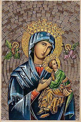 Lady Mosaik (Unsere Lady Of Perpetual Help Goldfolie Mosaik Plakette 4 X 6)