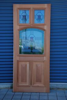 Leadlight Entrance Doors & Entrance Door Frame with security door | Building Materials ...
