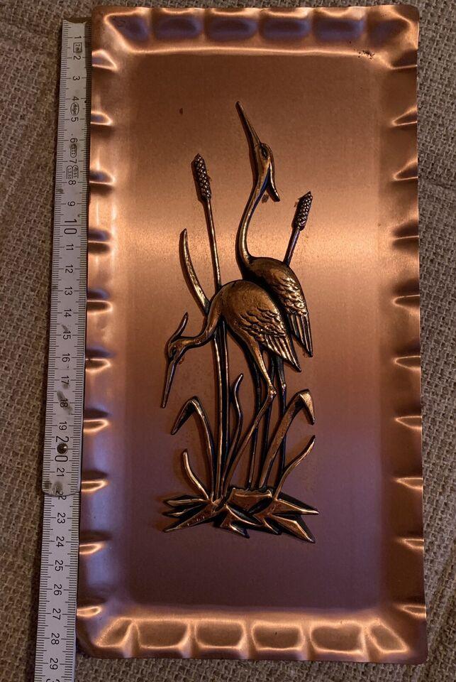 Kupfer-Bild mit Kranichen in Dipperz
