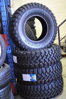 4 SET BRAND NEW 285-75-R16 MT TYRE + FITTING AND BALANCING