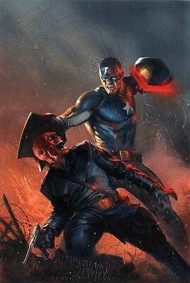 CAPTAIN AMERICA Vs Red Skull BY Gabriele Dell'Otto POSTER 24x36 Marvel Comics