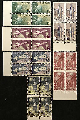 24 vtg Czechoslovakia Space Stamps 6 Values & 6 Designs Mint Never Hinged #13