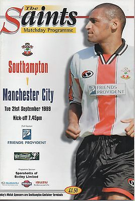 SOUTHAMPTON v MANCHESTER CITY 21.09.99 WORTHINGTON CUP