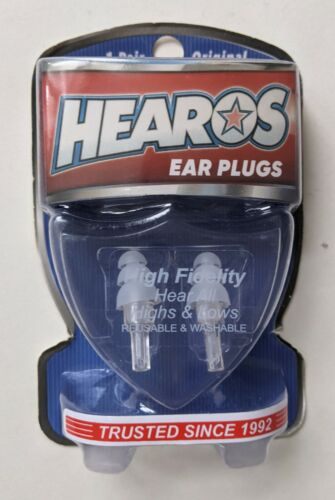 Hearos Ear Plugs High Fidelity Reusable Washable