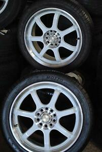 """4 SET SPORT 17"""" ALLOY WHEELS WITH TYRES 5 STUDS + GOOD CONDI Virginia Brisbane North East Preview"""