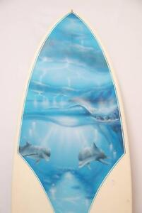 """HARDWARE KNEEBOARD SURFBOARD 5'6"""" with MURAL DALE PONSFORD Hornsby Hornsby Area Preview"""