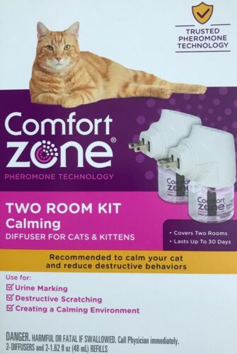 COMFORT ZONE Two Room Kit Calming Diffuser For Cats & Kittens