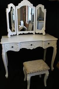 NEW FRENCH PROVINCIAL DRESSING TABLE JEWELLERY MAKE UP MIRROR Chipping Norton Liverpool Area Preview