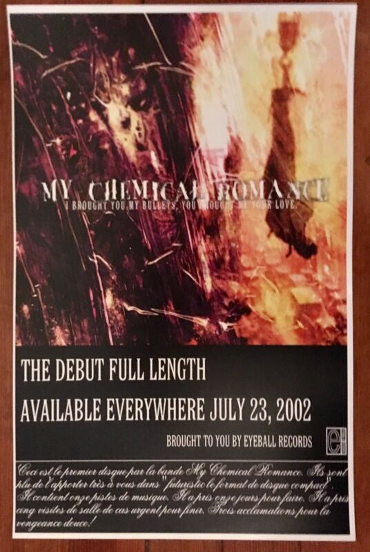 Vintage My Chemical Romance I Brought You My Bullets Release Promo Poster (D)