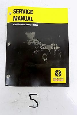Nh New Holland Lw170 Lw190 Wheel Loader Workshop Shop Service Repair Manual 602