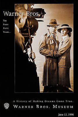 CASABLANCA (1942) ORIGINAL '96 LIMITED EDITION WARNER BROS. MUSEUM MOVIE POSTER
